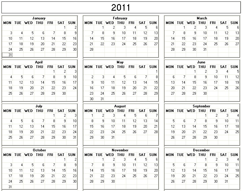 2011 calendar uk printable. uk clubs counties w coast