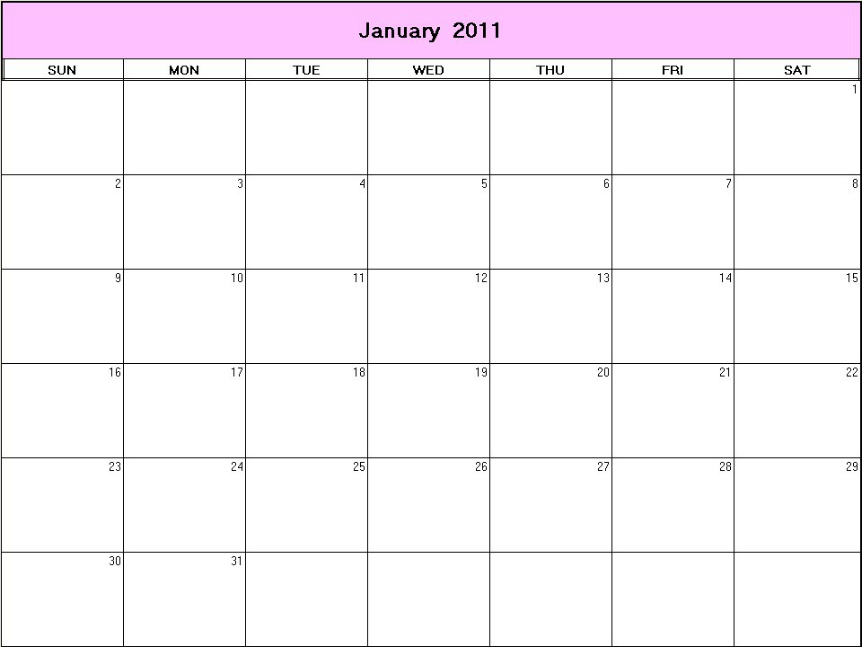 2011 calendar with holidays