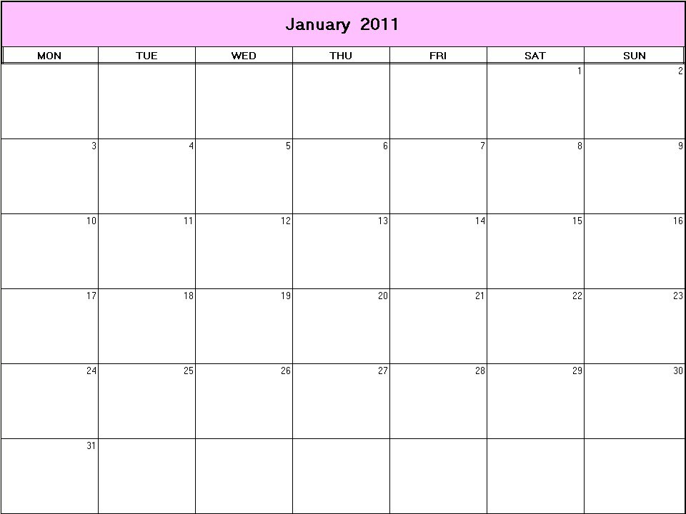 yearly calendar 2011. Yearly calendar showing