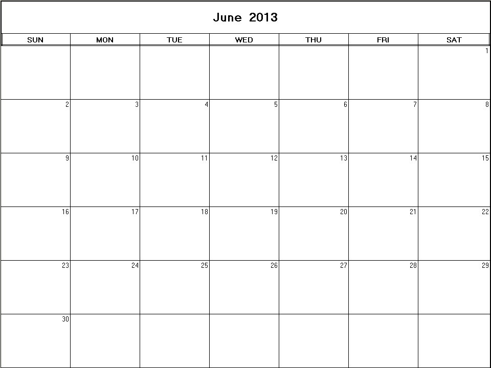 June 2013 Monthly Expenses